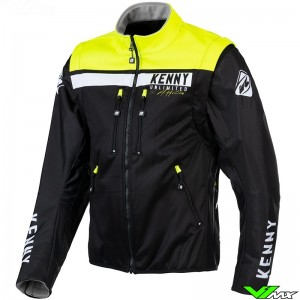 Kenny Softshell 2021 Enduro Jacket - Black / Fluo Yellow