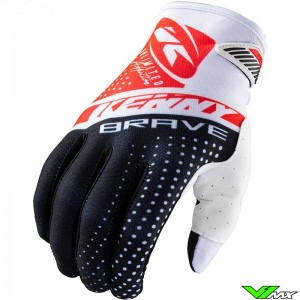 Kenny Brave 2021 Youth Motocross Gloves - Red
