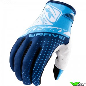 Kenny Brave 2021 Youth Motocross Gloves - Blue