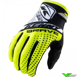 Kenny Brave 2021 Youth Motocross Gloves - Fluo Yellow