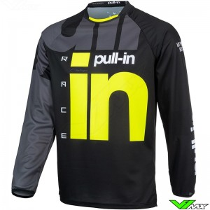 Pull In Challenger Race 2021 Cross shirt - Zwart / Fluo Geel