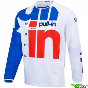 Pull In Challenger Race MX Jersey - White / Red / Blue (L/XL)