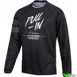Pull In Solid 2021 Motocross Jersey - Black