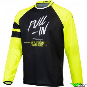 Pull In Solid 2021 Motocross Jersey - Fluo Yellow