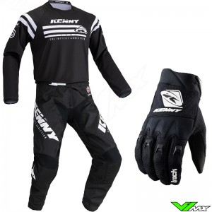 Kenny Track Raw 2021 Youth Motocross Gear Combo - Black