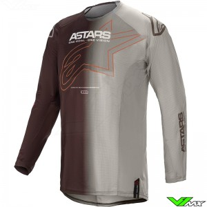 Alpinestars Techstar Phantom 2021 Motocross Jersey - Anthracite / Orange