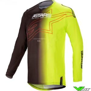 Alpinestars Techstar Phantom 2021 Motocross Jersey - Black / Fluo Yellow