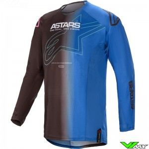 Alpinestars Techstar Phantom 2021 Motocross Jersey - Black / Blue