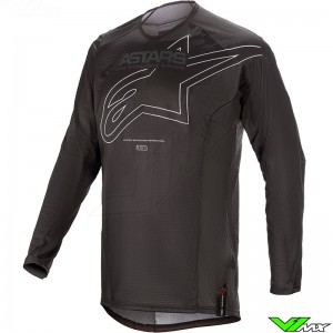 Alpinestars Techstar Phantom 2021 Motocross Jersey - Black / White