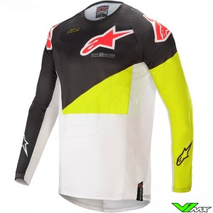 Alpinestars Techstar Factory 2021 Motocross Jersey - Black / Fluo Yellow / White