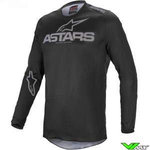 Alpinestars Fluid Graphite 2021 Motocross Jersey - Black / Dark Grey