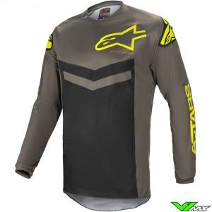 Alpinestars Fluid Speed 2021 Motocross Jersey - Dark Grey / Fluo Yellow
