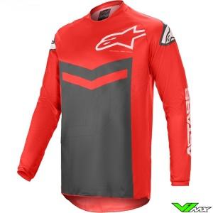Alpinestars Fluid Speed 2021 Motocross Jersey - Bright Red / Anthracite