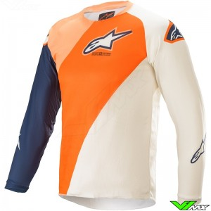 Alpinestars Racer Blaze 2021 Youth Motocross Jersey - Orange / Dark Blue
