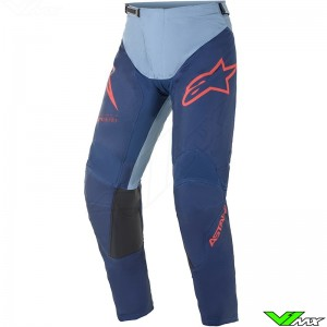 Alpinestars Racer Braap 2021 Motocross Pants - Dark Blue / Blue / Bright Red