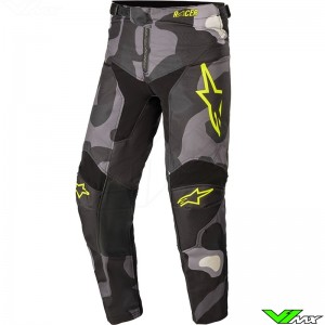 Alpinestars Racer Tactical 2021 Youth Motocross Pants - Grey / Camo / Fluo Yellow