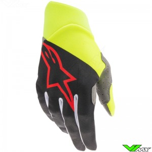 Alpinestars Dune 2021 Motocross Gloves - Black / Fluo Yellow / Bright Red