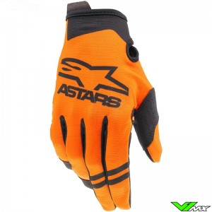 Alpinestars Radar 2021 Youth Motocross Gloves - Orange / Black