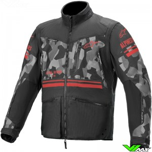 Alpinestars Venture R Enduro Jacket - Grey / Camo / Fluo Red