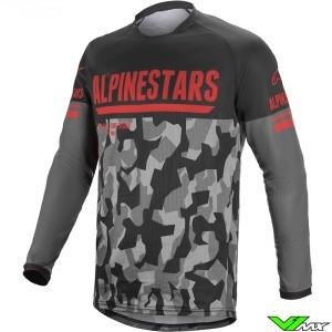 Alpinestars Venture R Enduro Shirt - Grijs / Camo / Fluo Rood