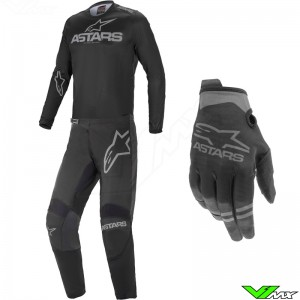 Alpinestars Fluid Graphite Motocross Gear Combo - Black