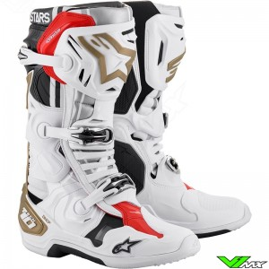 Alpinestars Tech 10 Motocross Boots - Squad 20 / White / Gold