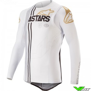 Alpinestars Supertech 2020 Cross Shirt - Squad 20 / Wit / Goud
