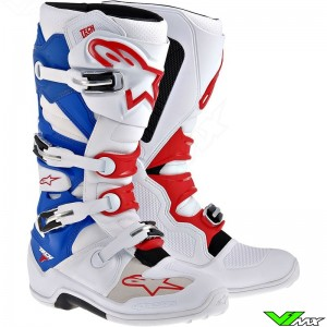 Alpinestars Tech 7 Enduro Boots - White / Red / Blue