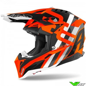 Airoh Aviator 3 Rainbow Motocross Helmet - Orange
