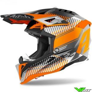 Airoh Aviator 3 Wave Motocross Helmet - Orange / Silver