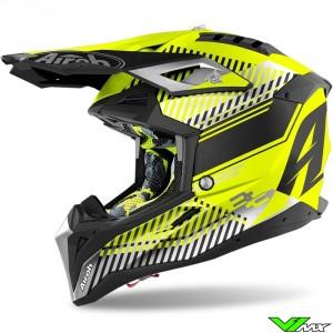 Airoh Aviator 3 Wave Motocross Helmet - Fluo Yellow