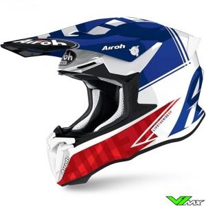 Airoh Twist 2.0 Tech Motocross Helmet - Blue / White / Red