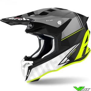 Airoh Twist 2.0 Tech Motocross Helmet - Fluo Yellow / Grey