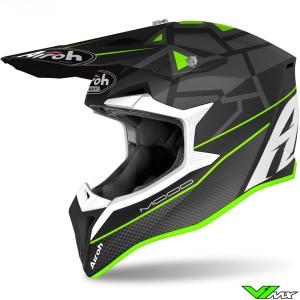 Airoh Wraap Mood Motocross Helmet - Green / Mat