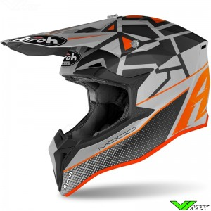Airoh Wraap Youth Mood Youth Motocross Helmet - Orange / Mat