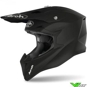 Airoh Wraap Youth Youth Motocross Helmet - Mat / Black