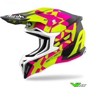 Airoh Striker XXX Motocross Helmet - Pink / Fluo Yellow