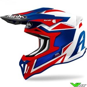 Airoh Striker Axe Motocross Helmet - Red / Blue
