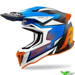 Airoh Striker Axe Motocross Helmet - Blue / Orange