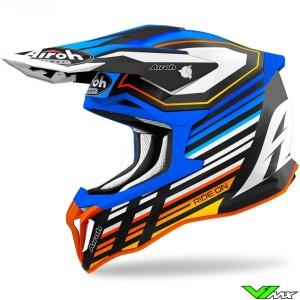 Airoh Striker Shaded Motocross Helmet - Blue / Orange