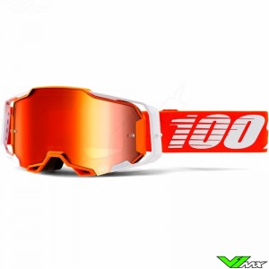 100% Armega Regal Motocross Goggle - Red Mirror Lens