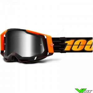 100% Racecraft 2 Costume Motocross Goggle - Silver Mirror Lens