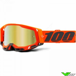 100% Racecraft 2 Kerv Motocross Goggle - Gold Mirror Lens