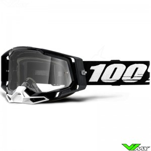 100% Racecraft 2 Zwart Crossbril - Clear lens