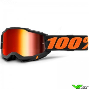 100% Accuri 2 Chicago Motocross Goggle - Red Mirror Lens