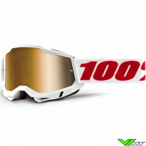 100% Accuri 2 Denver Motocross Goggle - True Gold Mirror