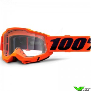 100% Accuri 2 Oranje Crossbril - Clear lens