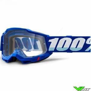 100% Accuri 2 Blauw Crossbril - Clear lens