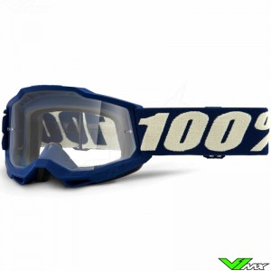 100% Accuri 2 Youth Deep Marine Youth Motocross Goggle - Clear Lens