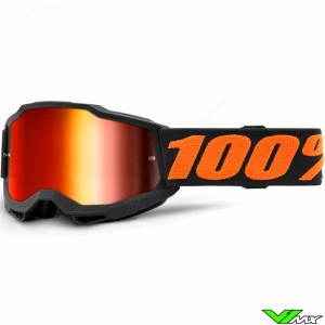 100% Accuri 2 Youth Chicago Youth Motocross Goggle - Red Mirror Lens
